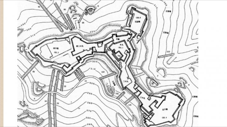 竹田城跡の構造